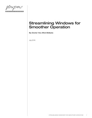 VoxPro Streamlining Windows for Smoother Operation